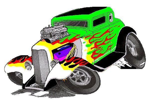 635x412 Hot Rod Clip Art Hot Rods Wild Thang (Car Toons