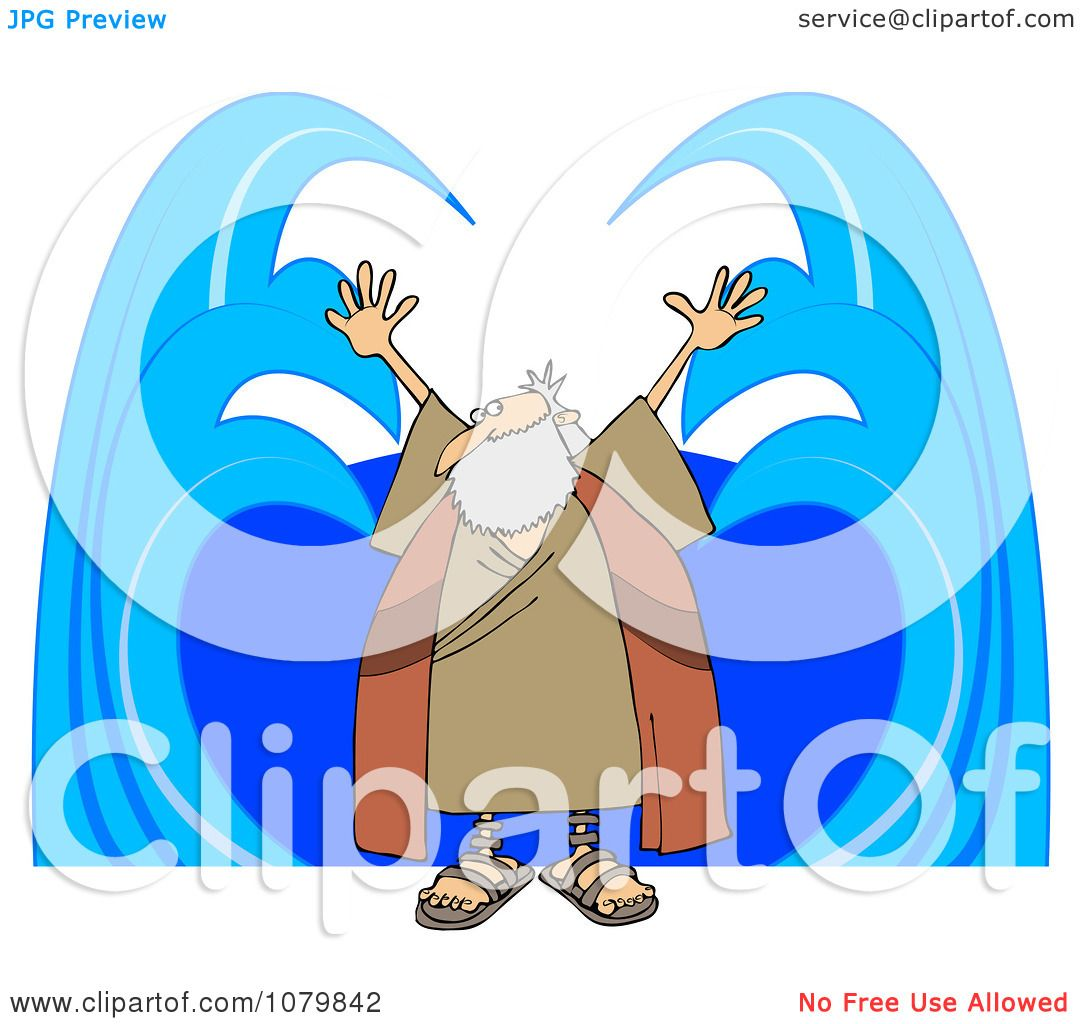 1080x1024 Clipart Moses Parting Water