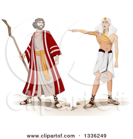 450x470 Clipart Of An Ancient Egyptian Pharaoh Sending Moses Away