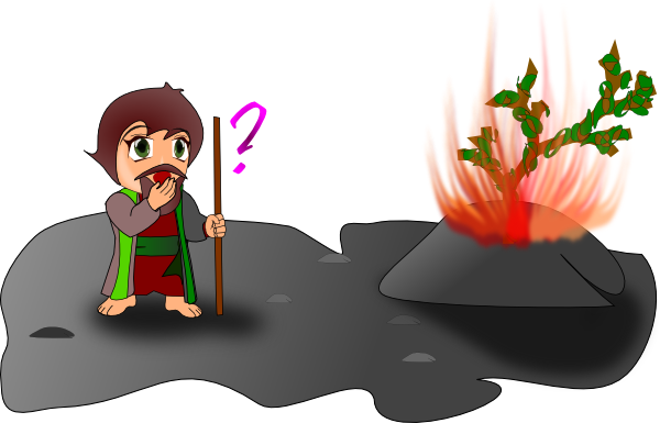 600x385 Moses And The Burning Bush Chibi Version Clip Art Free Vector
