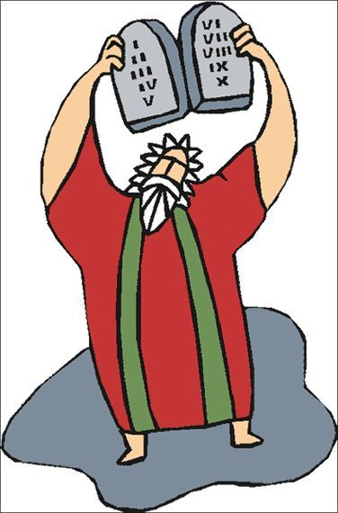 376x570 Moses On Mount Sinai Clip Art Appreciation Gifts