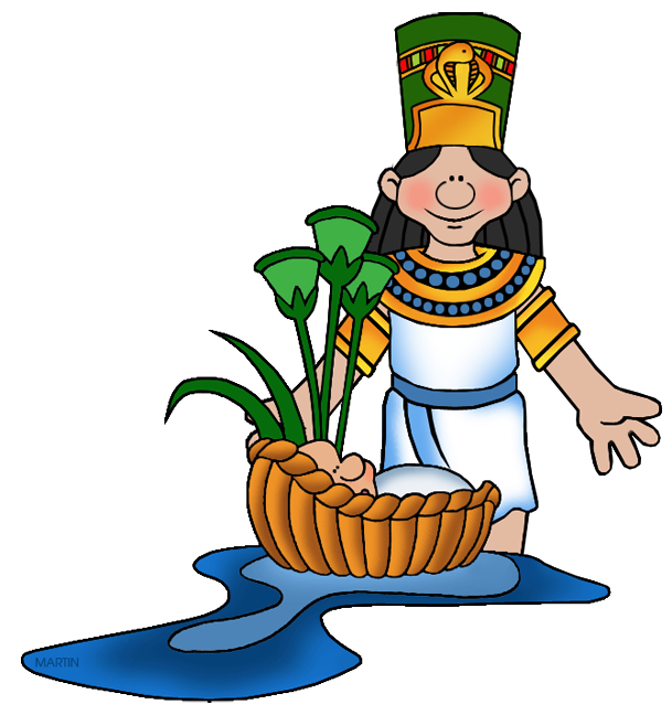 609x648 Pharaoh's Daughter With Moses Clipart Bible