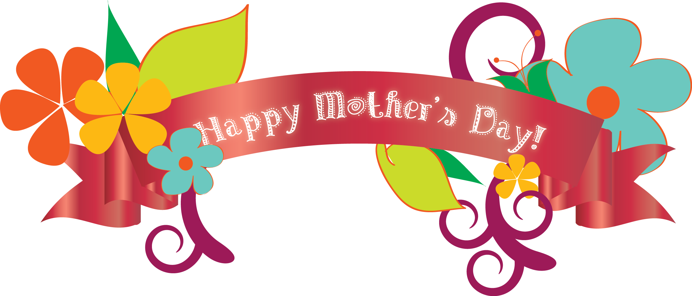 2400x1028 Mothers Day Transparent Png Pictures