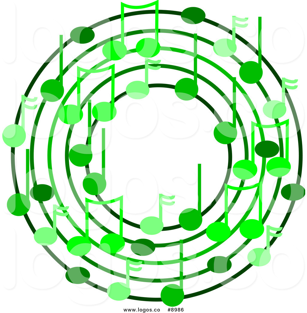 1024x1044 Royalty Free Clip Art Vector Ring Or Wreath Of Varying Green Music