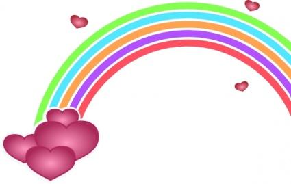 425x269 Free Download Of Valentine Rainbow Clip Art Vector Graphic