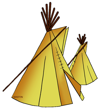 321x360 Free Native American Dwellings Clip Art By Phillip Martin