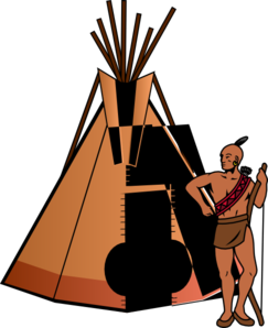 243x298 Native American With Teepee Clip Art