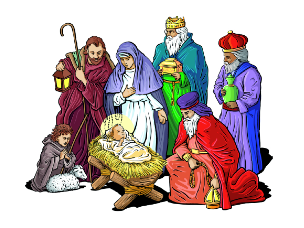 1024x768 Collection Of Christmas Nativity Scene Clipart High Quality