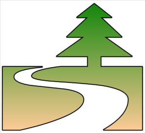 298x273 Nature Trail Cutout Clip Art