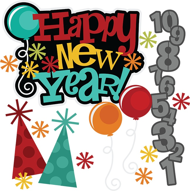 648x653 Happy New Year Celebration Clipart