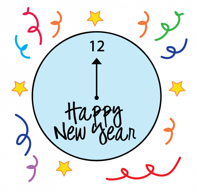 660x643 new years eve clock clipart