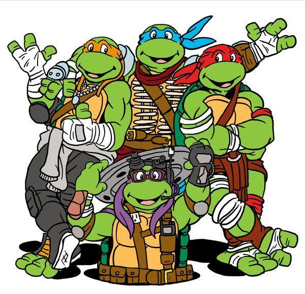 600x578 Ninja Turtles Clipart Old School