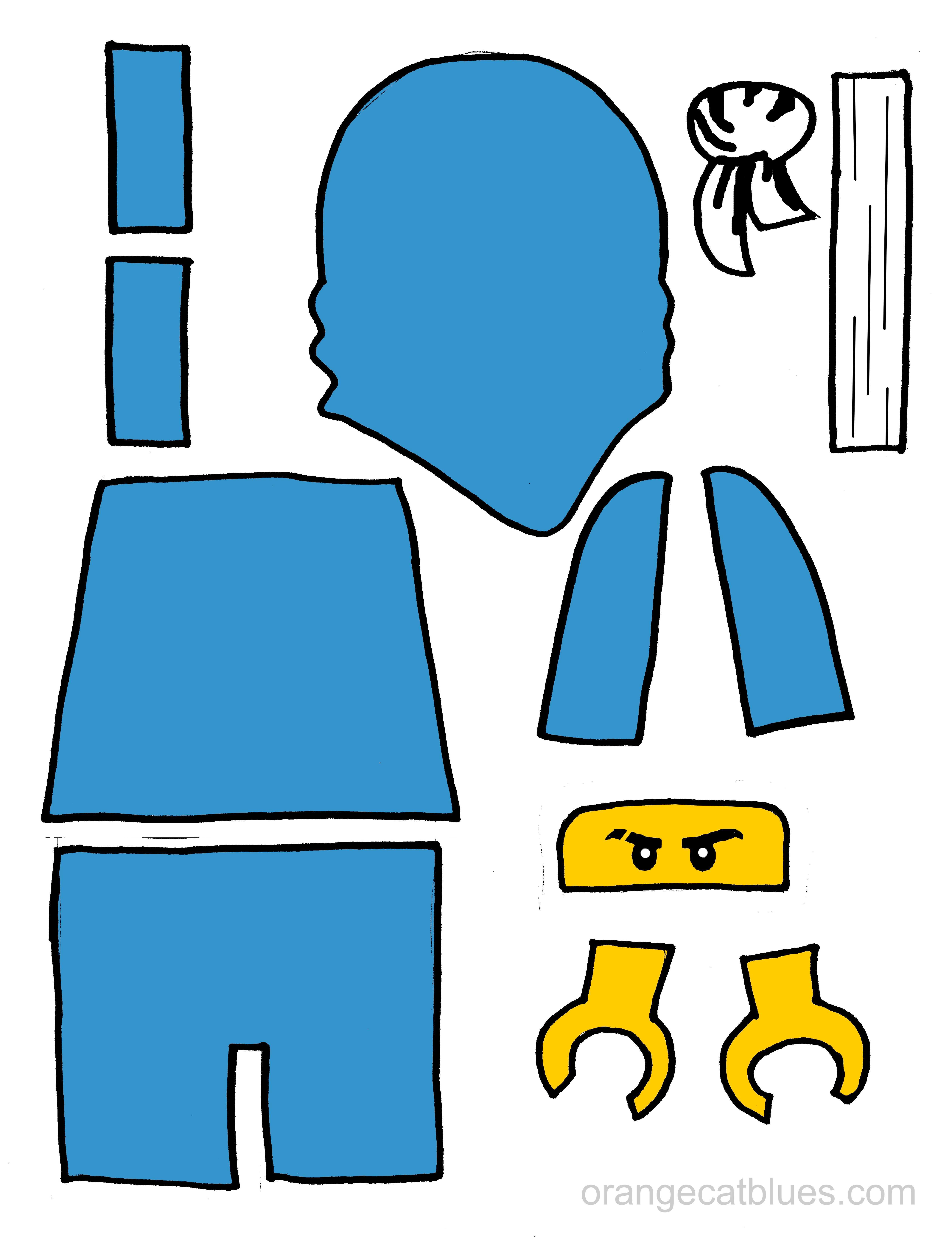 5100x6641 Lego Ninjago Printable Cutout For Toddler Gluestick Art The Blue