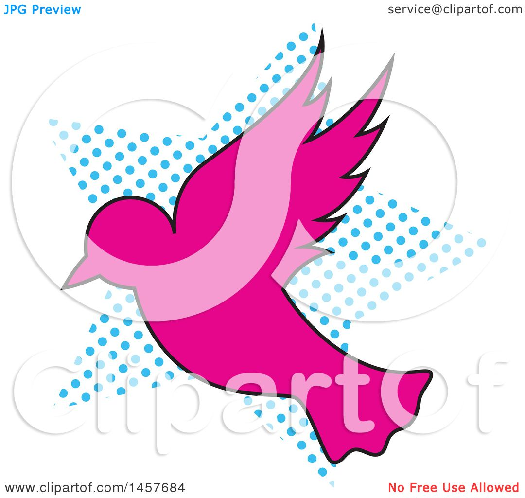 1080x1024 Clipart Of A Pop Art Dove Over A Halftone Star