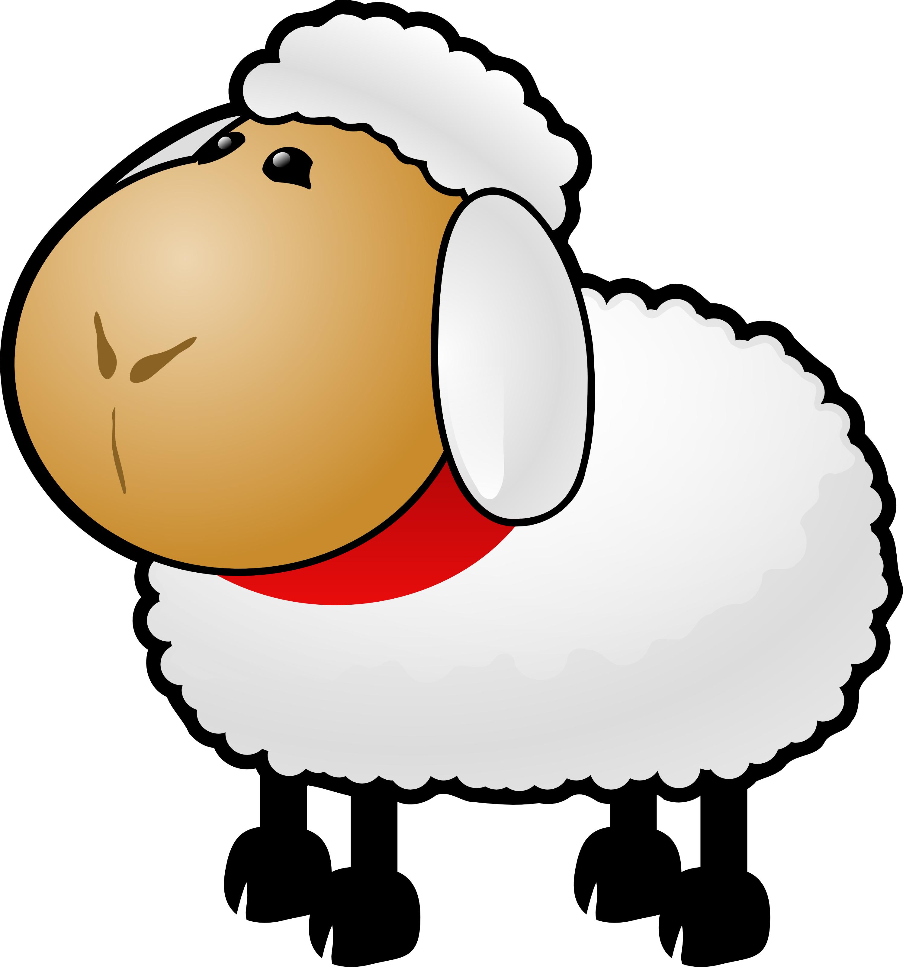 2990x3200 Free Cartoon Sheep Clipart Illustration