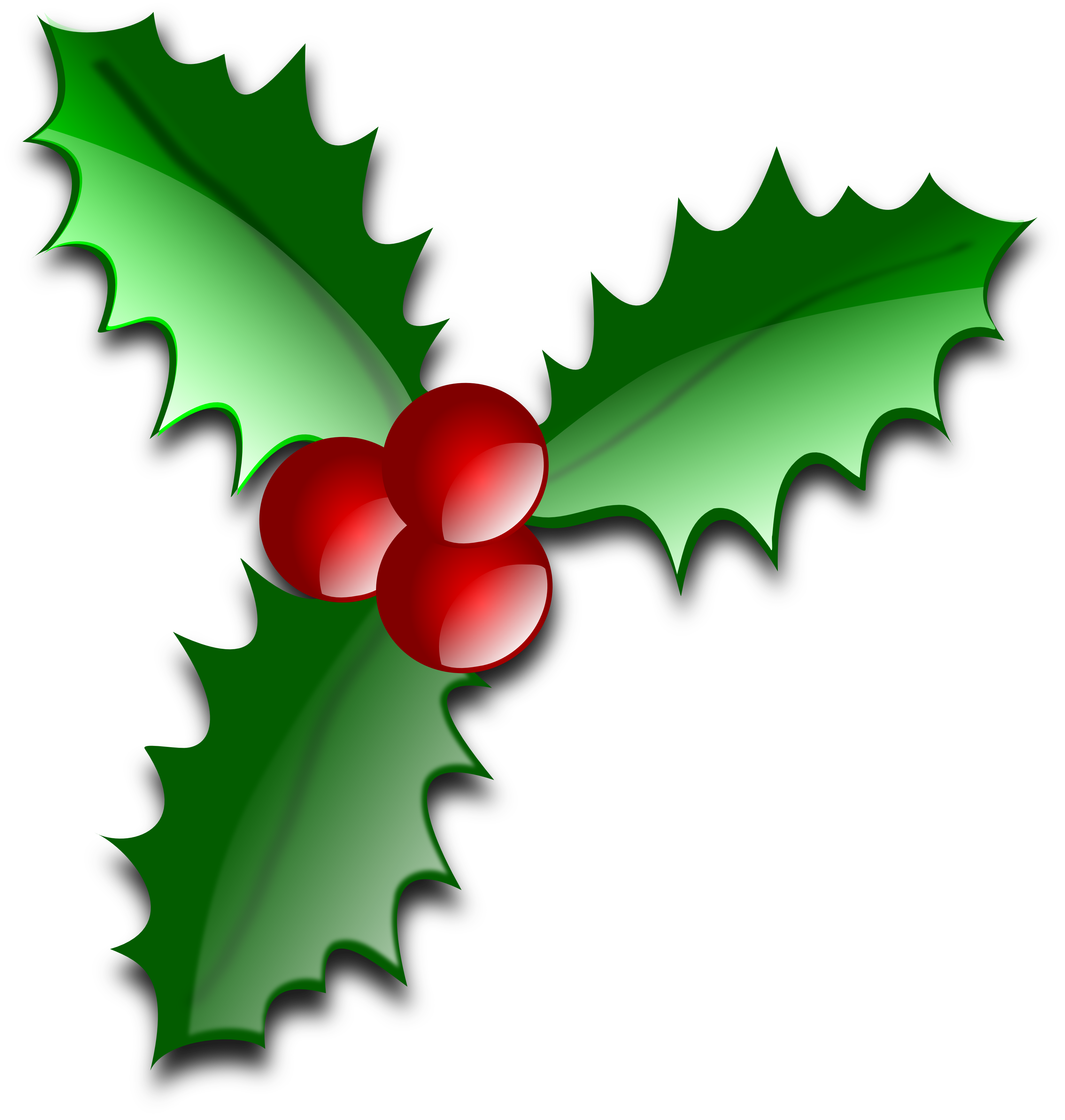 3333x3506 Limited Picture Of Christmas Holly Free Clip Art Clipart