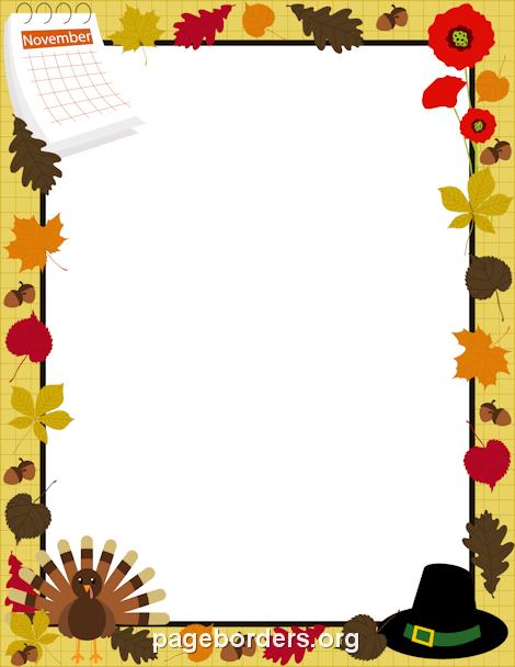 470x608 November Border Clip Art, Page Border, And Vector Graphics