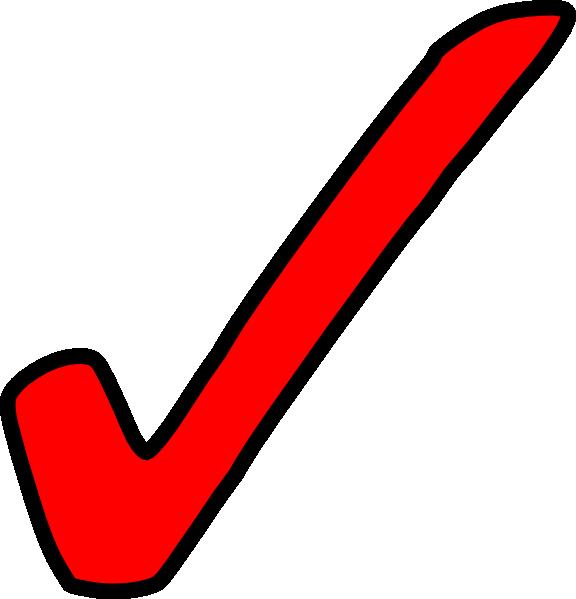 576x599 Surprising Free Clip Art Tick Red At Clker Com Vector Online