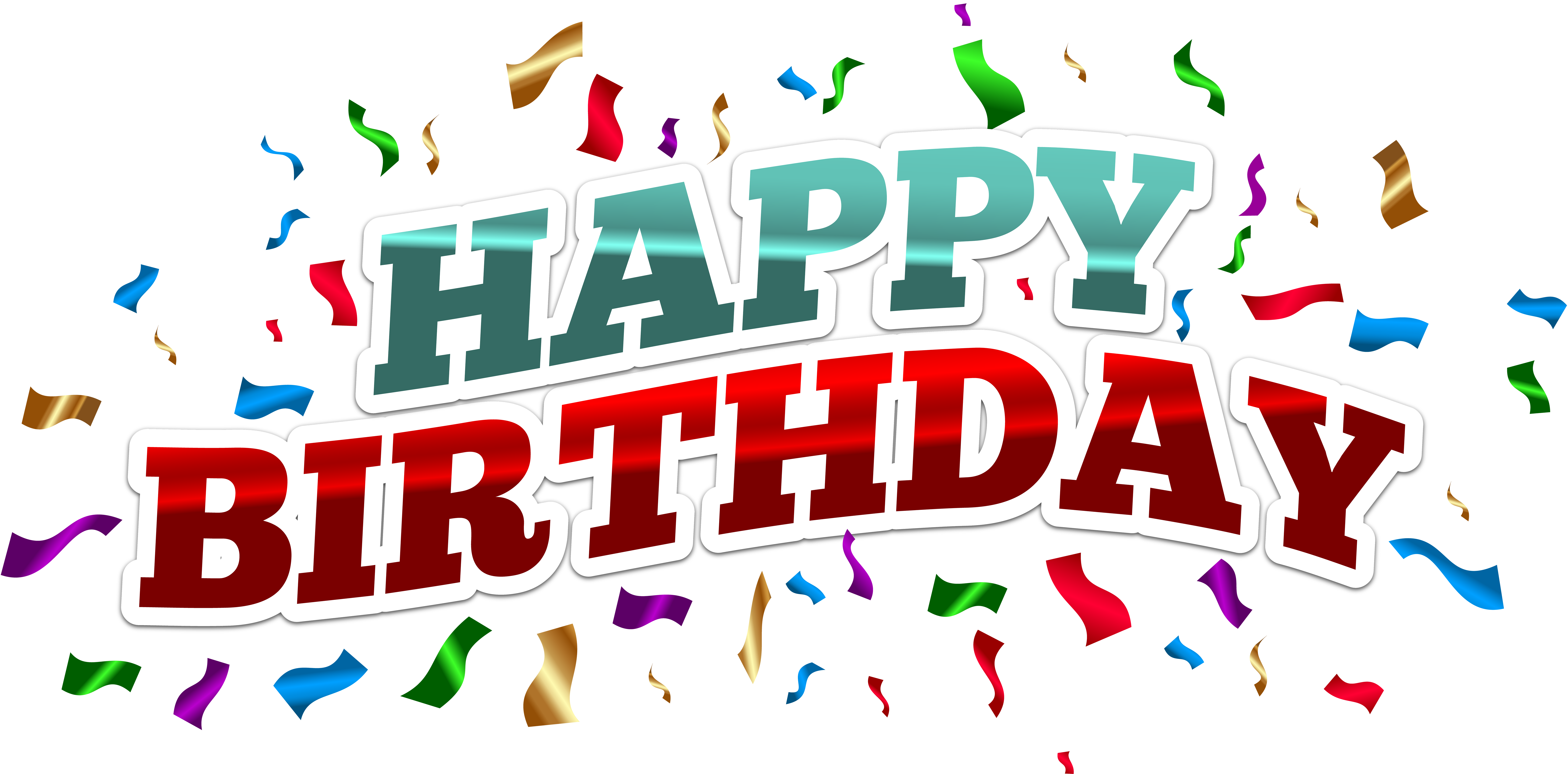 8000x3951 Colorful Happy Birthday Png Clip Art Image Gallery Yopriceville