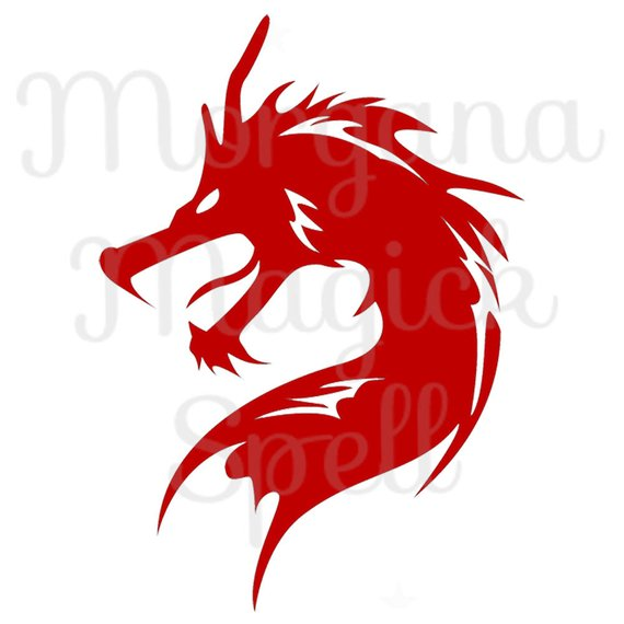 570x570 Red Dragon Royalty Free Clip Art Illustration Wiccan Digital Image