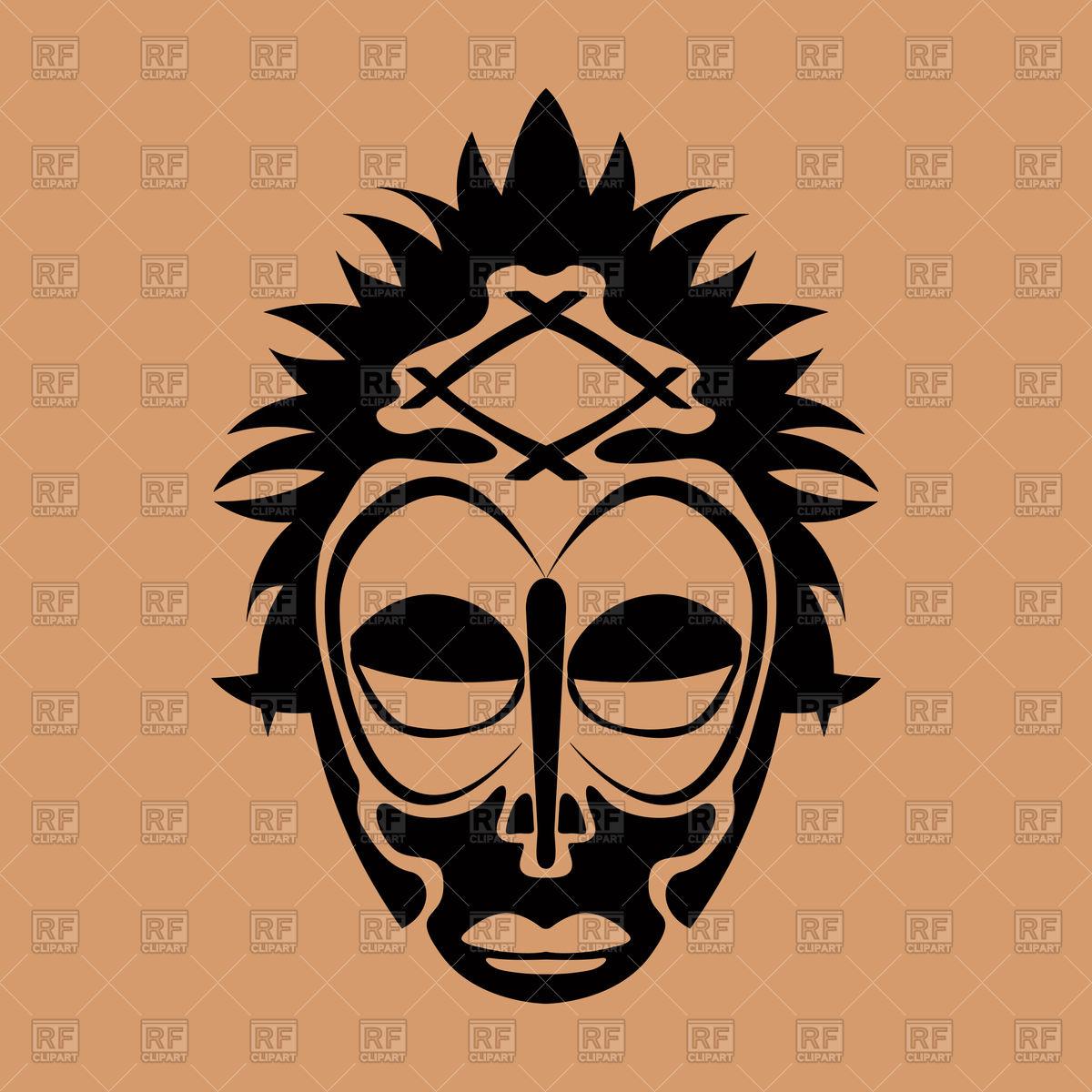 1200x1200 Tribal Mask Design, Abstract Art Royalty Free Vector Clip Art
