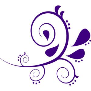 300x300 Purple And White Swirl Branch Clip Art Classroom