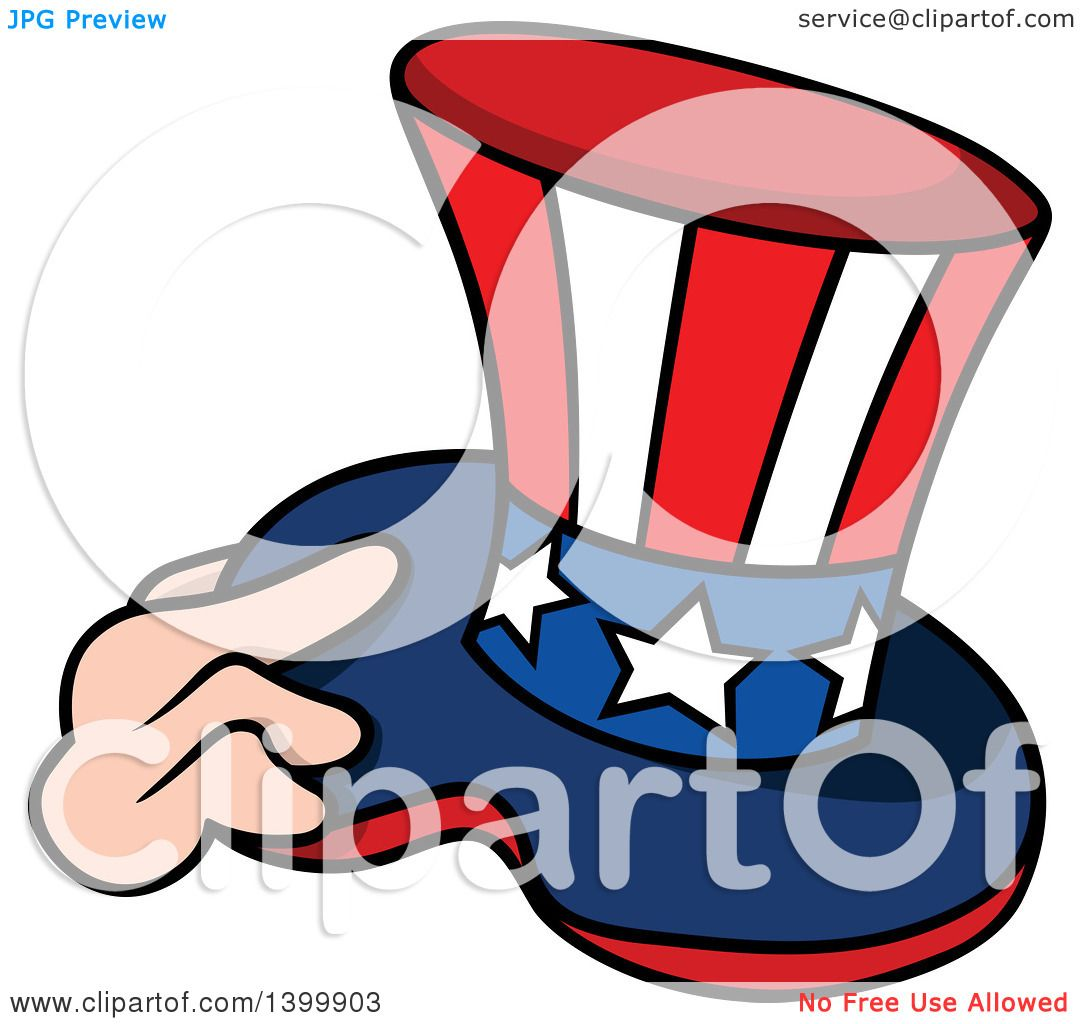 1080x1024 Clipart Of A Cartoon Hand Holding A Patriotic American Top Hat