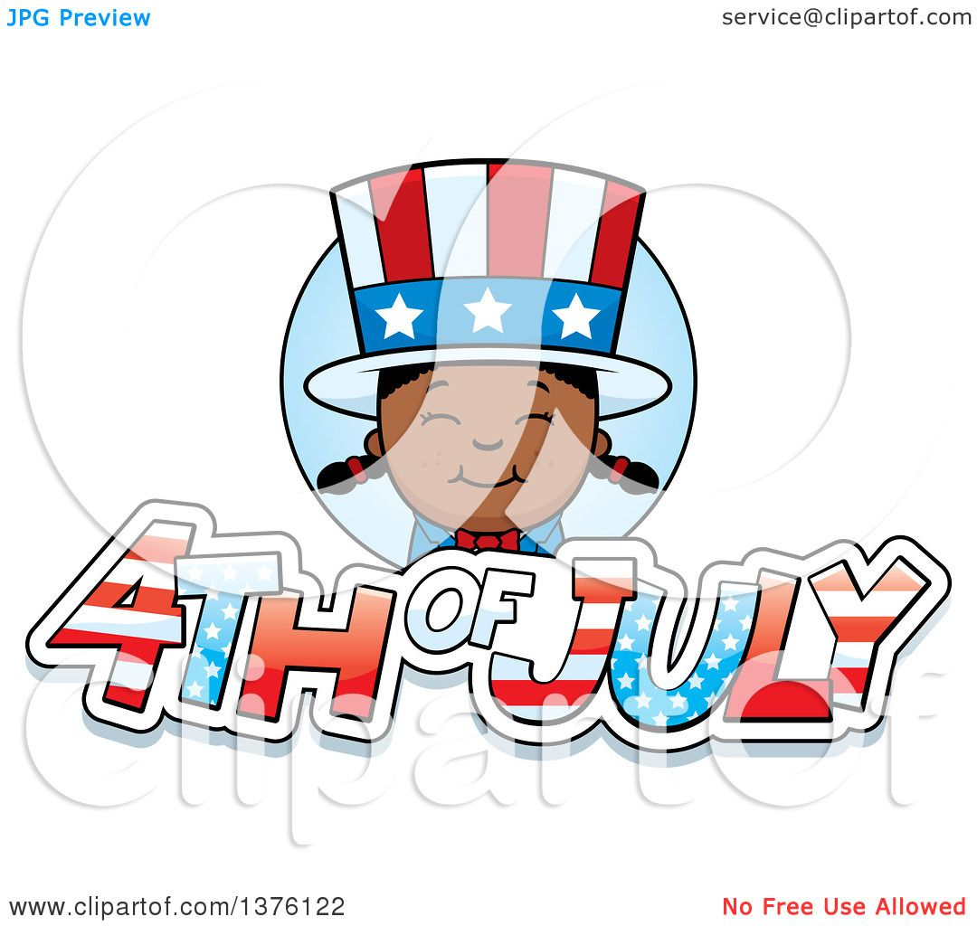 1080x1024 Clipart Of A Patriotic Fourth Of July Black Girl