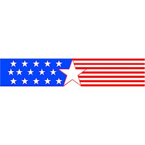 300x300 Collection Of Patriotic Clipart Banner High Quality, Free