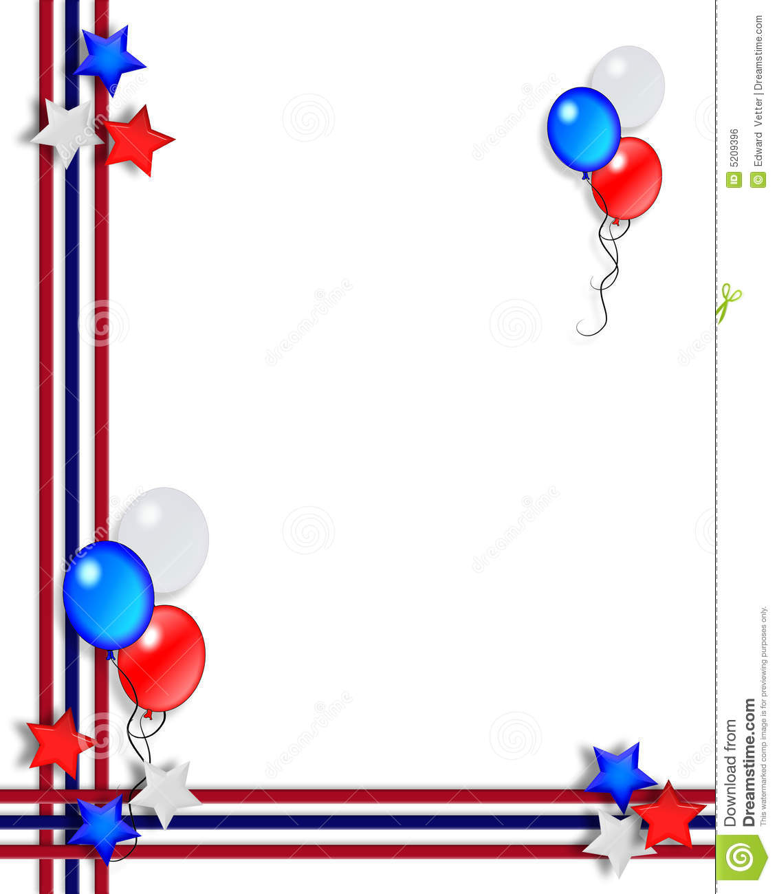 1130x1300 4th Of July Borders Clipart
