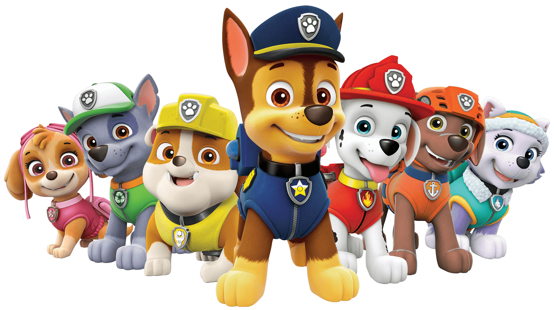 1800x1008 Paw Patrol All Characters Png