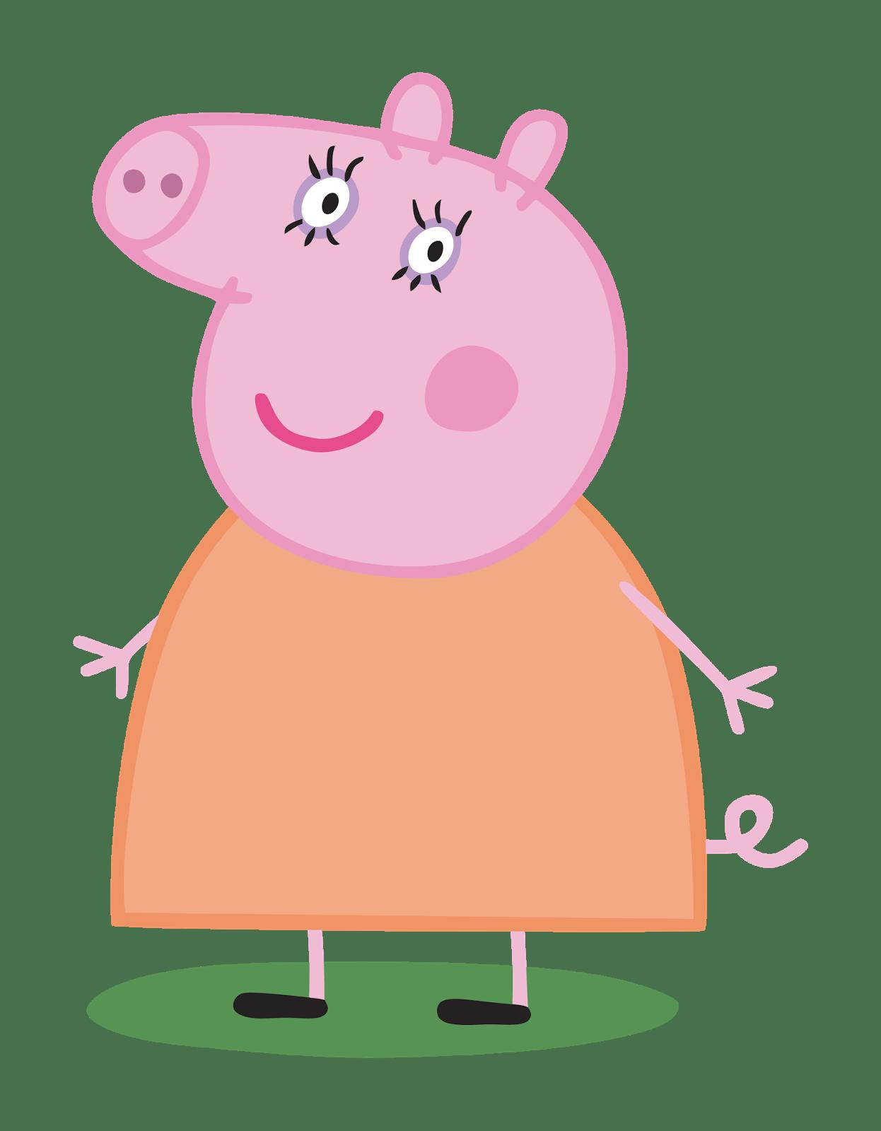 1246x1600 Mummy Pig Transparent Png