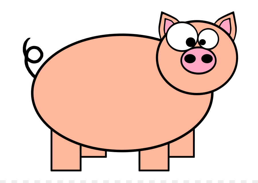 900x640 Domestic Pig Pig Roast Cartoon Clip Art