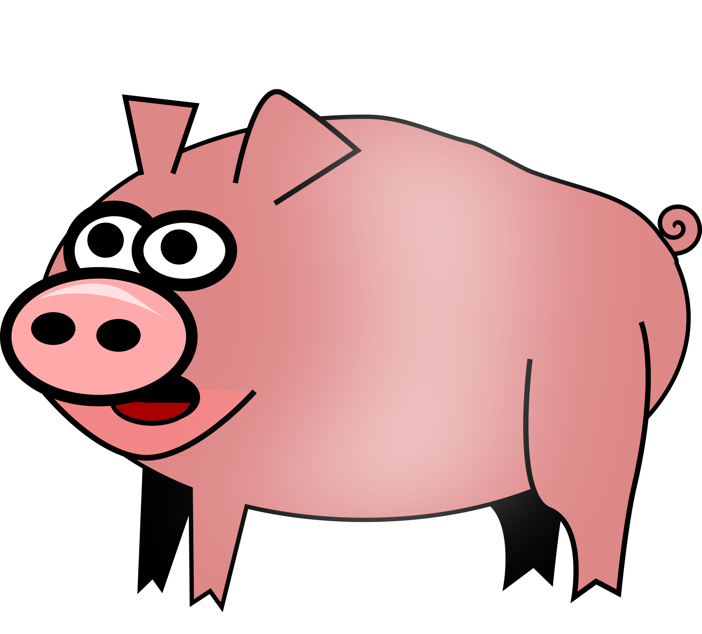 2400x2166 Pig Clipart Transparent Background