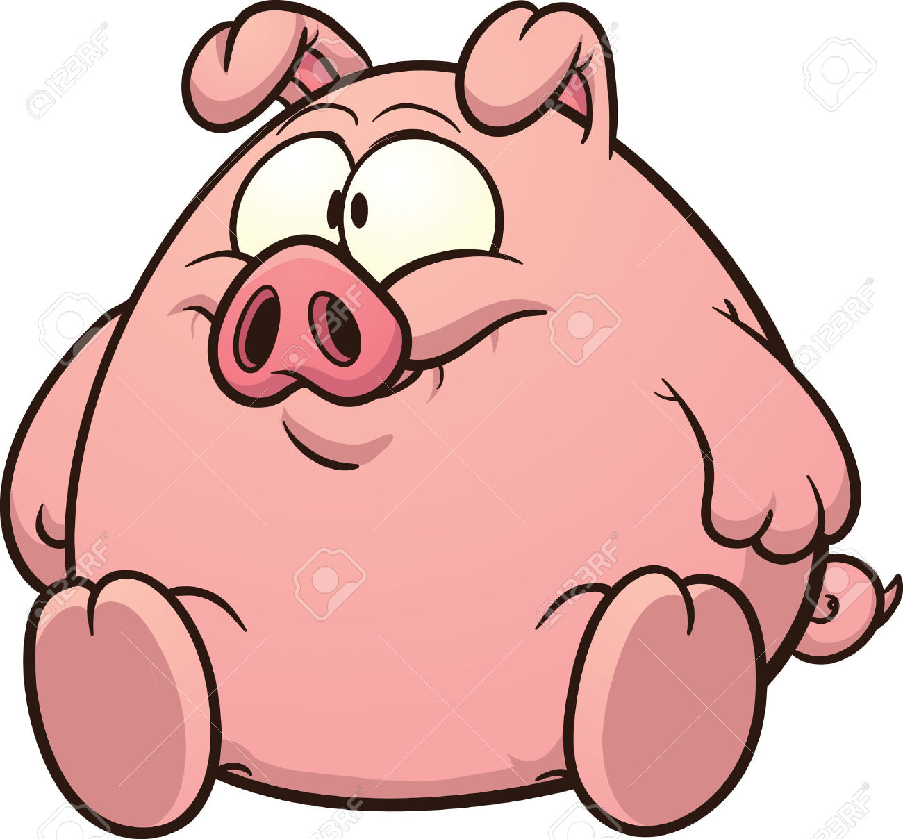 1300x1208 Crafty Inspiration Ideas Fat Clipart Pig Clip Art Royalty Free