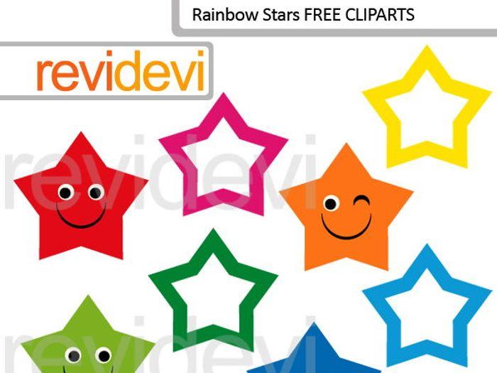 700x525 Free Clip Art Cute Rainbow Stars (Set Of 8) For Pre K