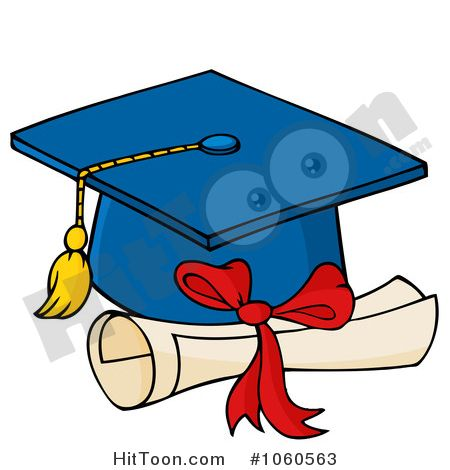 450x470 Pretty Cap And Gown Clipart