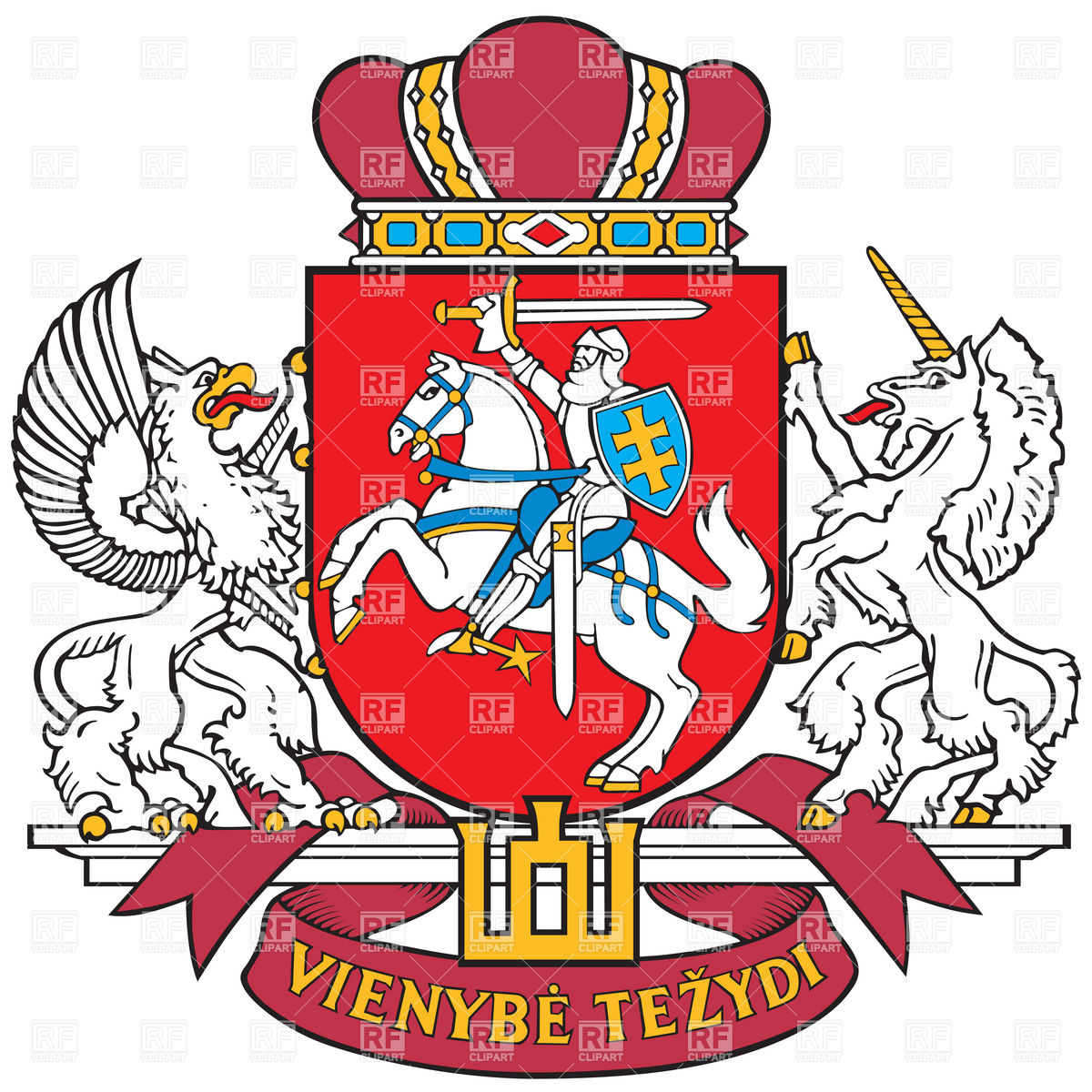 1200x1200 Coat Of Arms Of The President Of Lithuania Royalty Free Vector