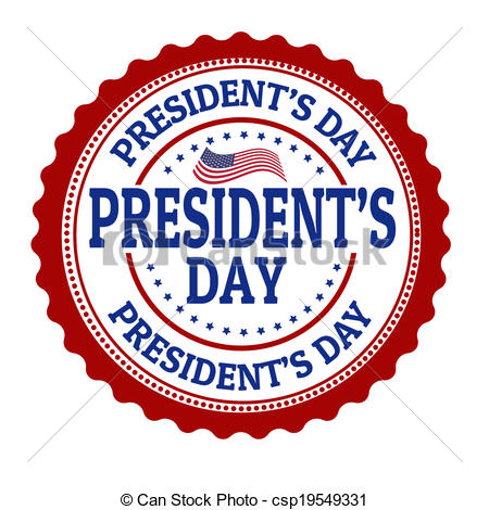 450x470 President's Day Stamp. President's Day Grunge Rubber Stamp