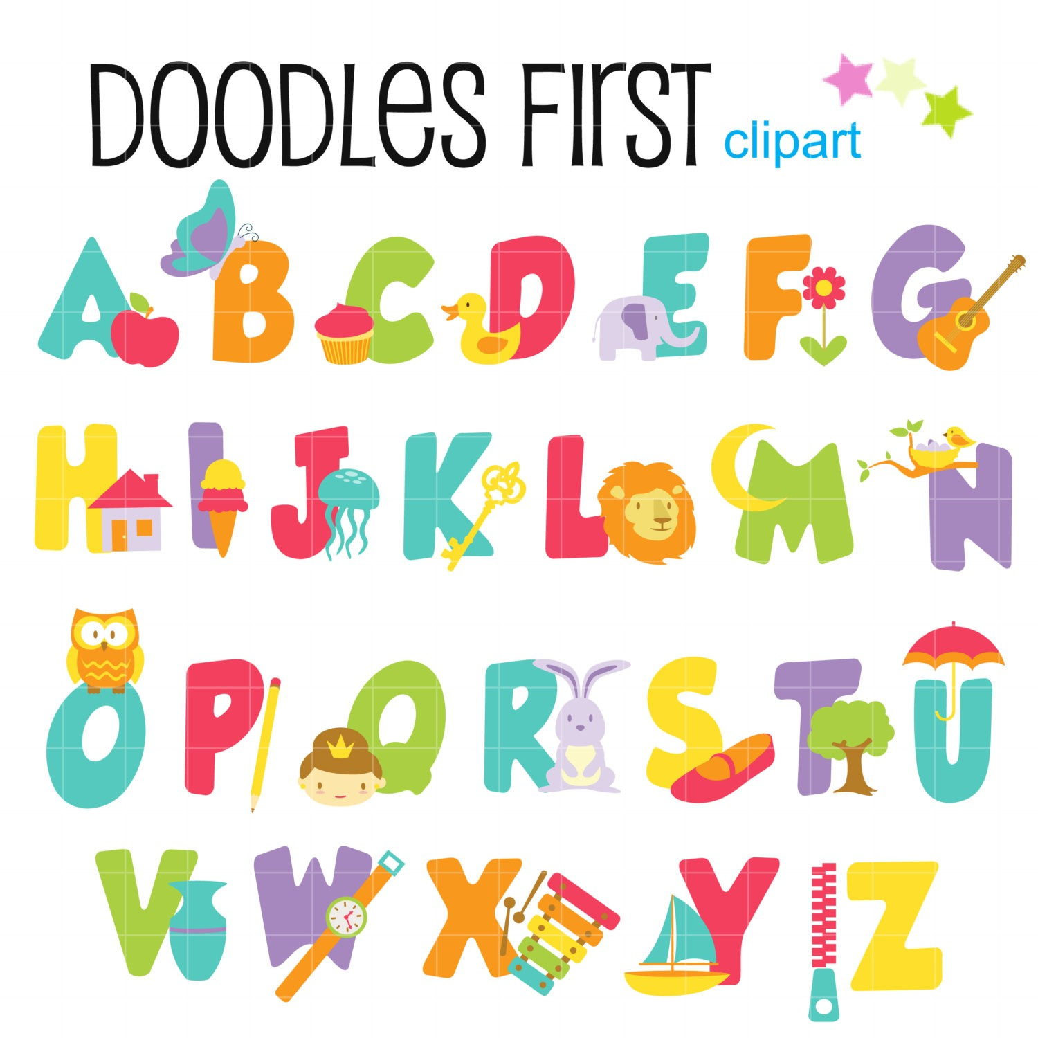Free Printable Alphabet Clipart At Getdrawings