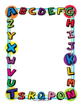 281x364 Free Printable Clip Art Borders Alphabet Border Page Border