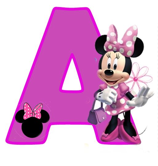 513x538 Minnie Mouse Images Free Free Alphabet In Purple Minnie Purple