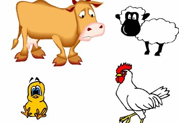 350x241 Farm Animals Clipart