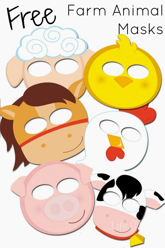 580x870 Free Printable Farm Animal Masks That Your Kids Will Love Animal