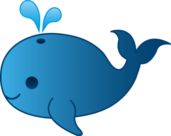 550x437 Little Blue Whale Clip Art
