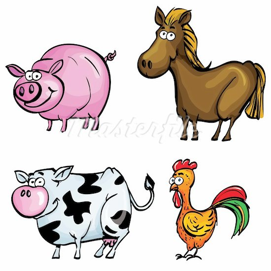 550x550 Printable Farm Animals Clipart