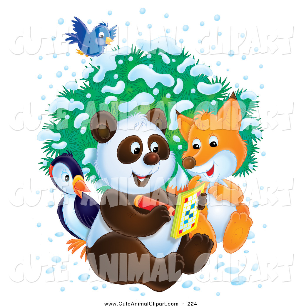 1024x1044 Royalty Free Winter Stock Animal Designs
