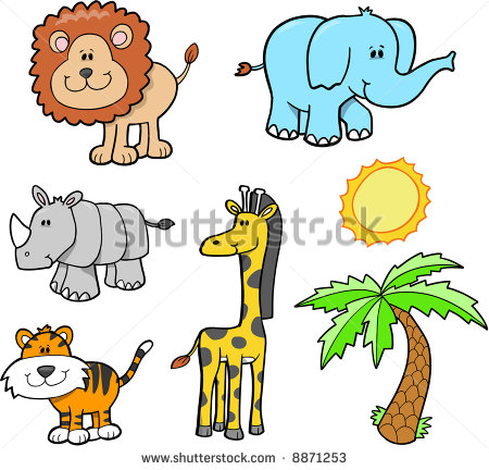450x432 Safari Animal Clipart