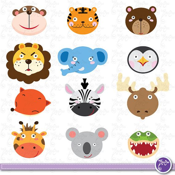 570x570 Wild Animals Clip Art, Cute Animals, Jungle Animals, Zebra, Tiger