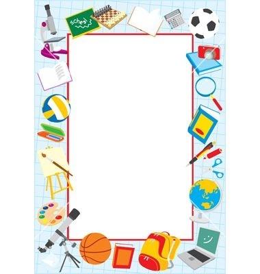 380x400 Clip Art School Borders Free
